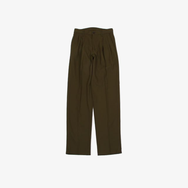 cantate Back Satin Garbadine Reverse Pleats Trousers [21AWCA0280]