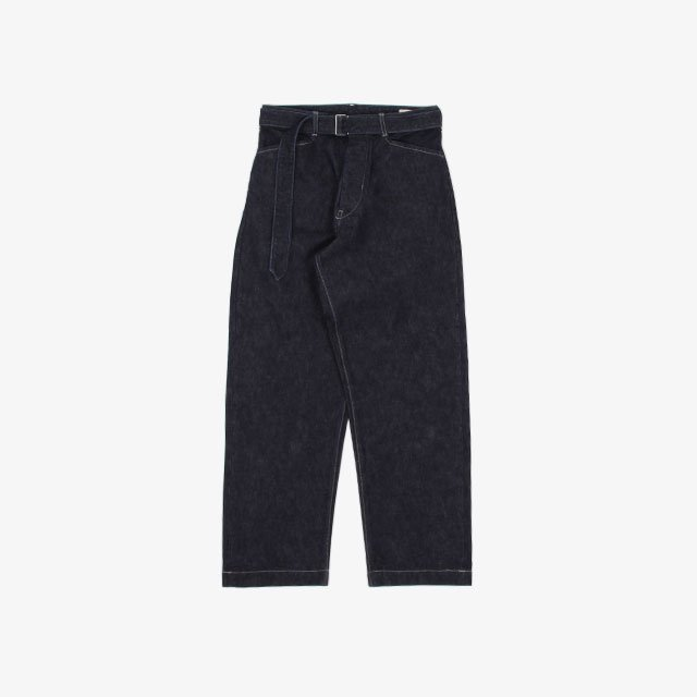 blurhms 13.5 Selvage Denim Long Belted Pants Indigo [BHS21F008]