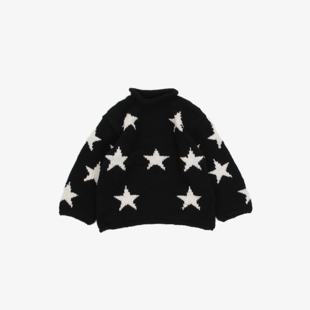 niche. Roll Neck Knit – Star Black/White [A11Roll-STR]
