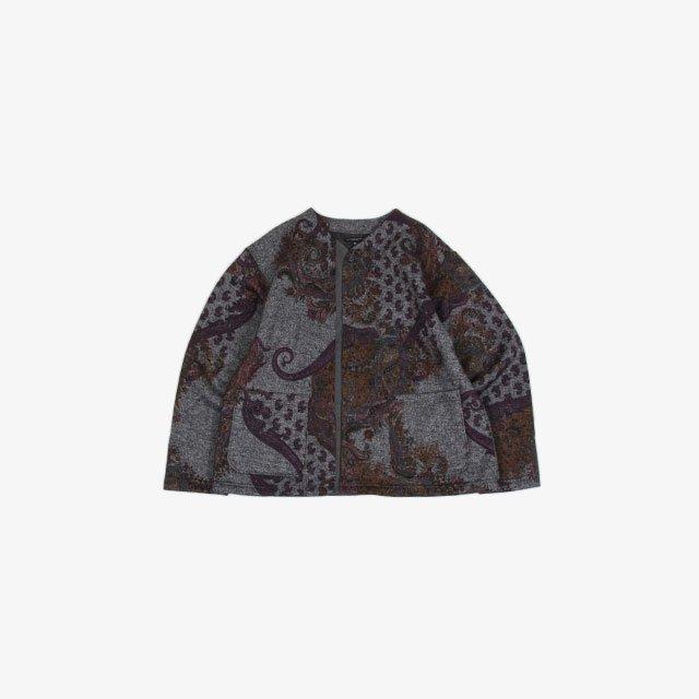 Engineered Garments Crewneck Cardigan – Poly Wool Paisley Print Knit [JL085]