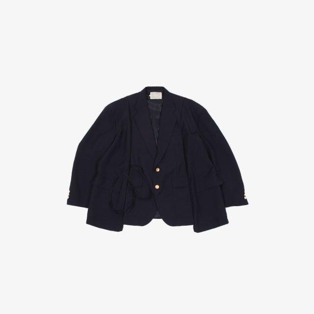 77CIRCA circa make wide wool jacket Navy type:A~G [cm-21aw-request]