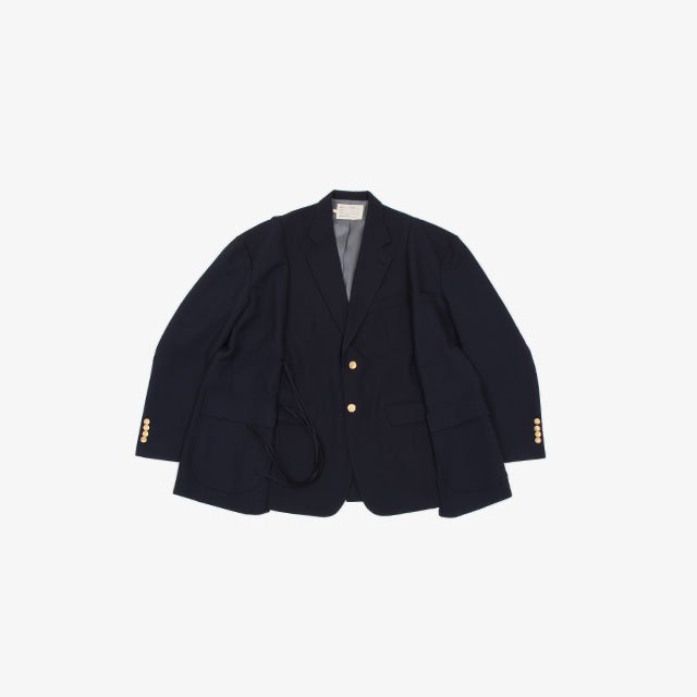 77CIRCA circa make wide wool jacket Navy type:H~M [cm-21aw-request]