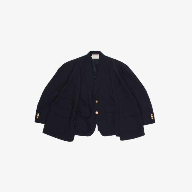 77CIRCA circa make wide wool jacket Navy type:O [cm-21aw-request]