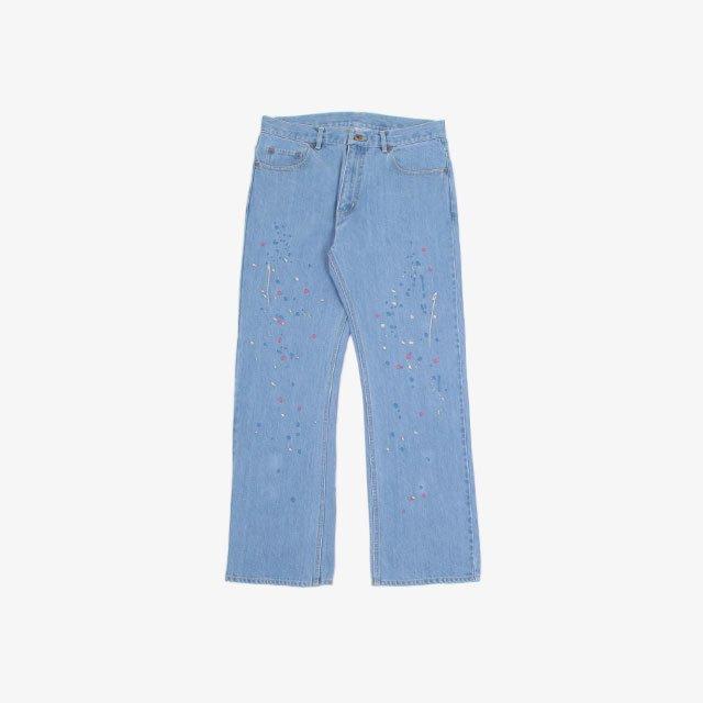 niche. Paint Emb Jeans-Flared C-SAX [F21-igap-27]