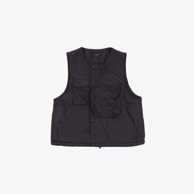 Engineered Garments Cover Vest – Nylon Micro Ripstop Black [JL090]