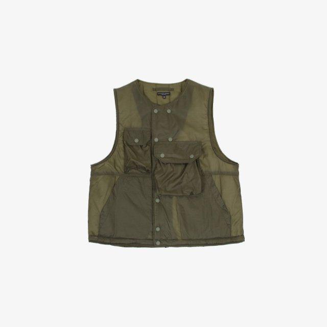 Engineered Garments Cover Vest – Nylon Micro Ripstop Olive [JL090]