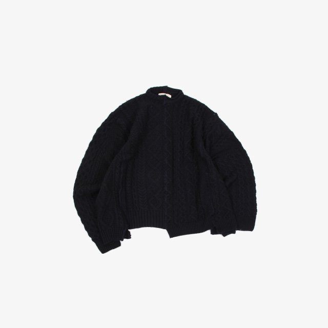 77CIRCA circa make vertical cutback fisherman sweater Navy type:A~F [cc21aw-15]
