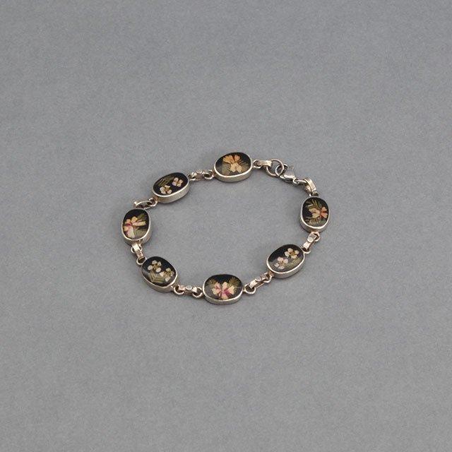 niche. Flower Chain Bracelet Black [F21-ajuz-48]