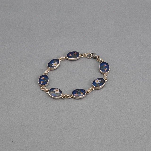 niche. Flower Chain Bracelet Blue [F21-ajuz-48]