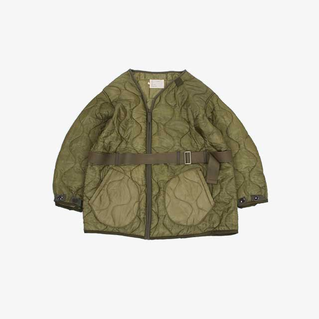 77CIRCA circa make quilting zip up jacket wide Olive [cm21aw-16]